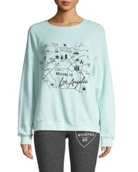 Wildfox Blue Star Maps Sweatshirt