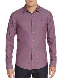 Original Penguin - Pink Slim-fit Oxford Shirt for Men - Lyst