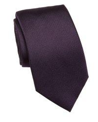 Saks Fifth Avenue Purple Solid Silk Tie for men
