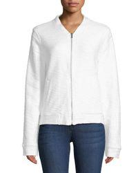 Marc New York - White Textured Cotton Jacket - Lyst