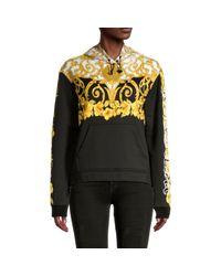 Versace Black Long-sleeve Cotton-blend Hoodie Jacket