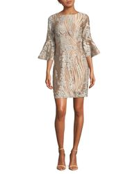 Belle By Badgley Mischka Natural Wendolyn Dress