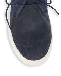 Camper Blue Textured Chukka Sneakers for men