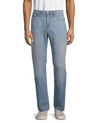 J Brand Blue Kane Straight Fit Jeans for men