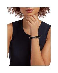 Alexis Bittar Blue Goldplated Lucite Hinge Bracelet