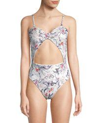 Rachel Roy Multicolor One-piece Floral Swimsuit