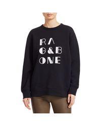 Rag & Bone Black Logo Sweatshirt