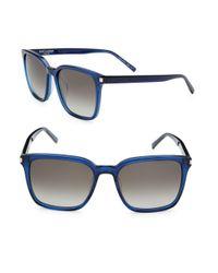 Saint Laurent Blue 54mm Square Sunglasses