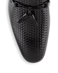 Mezlan - Black Leather Tassel Loafers for Men - Lyst