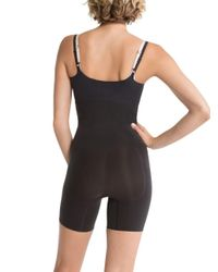 Spanx Black Shape My Day Open-bust Mid-thigh Bodysuit