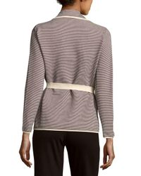 Max Mara White Alce Textured Cotton-blend Sweater