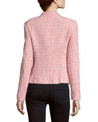 ESCADA - Pink Birdane Textured Blazer - Lyst
