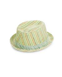 Robert Graham - Green Woven Banded Fedora Hat for Men - Lyst