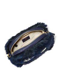 Anya Hindmarch - Blue Shearling Mini Crossbody Bag - Lyst