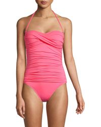 La Blanca Pink Island One-piece Bandeau Swimsuit