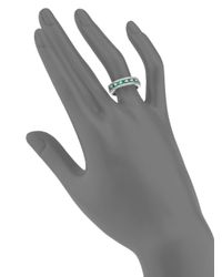 Effy Metallic Final Call Diamond, Emerald & 14K White Gold Ring