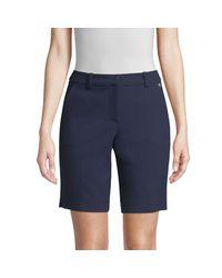 Trina Turk Blue Moss Bermuda Shorts