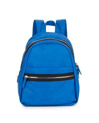 Kensie - Blue Faux Leather Backpack - Lyst