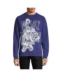 Versace Blue Graphic Sweatshirt for men