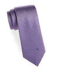 Versace Purple Silk Geometric Tie for men