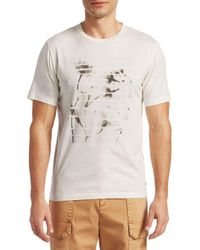 Madison Supply White Distressed-print Tee for men