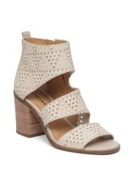 Lucky Brand - Natural Abott Leather Strap Sandals - Lyst