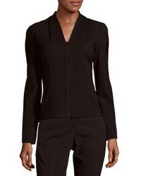 Lafayette 148 New York - Black V-neck Long Sleeve Jacket - Lyst