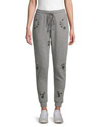 Hemant & Nandita Gray Embellished Cotton Jogger Pants