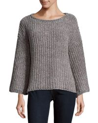 Saks Fifth Avenue - Gray Chenille Slouch Sweater - Lyst