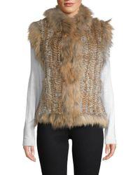 Belle Fare - Natural Dyed Rabbit & Raccoon Fur Vest - Lyst