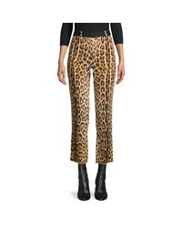 Roberto Cavalli Multicolor Leopard-print Cropped Pants