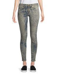 True Religion Gray Jennie Curvy Skinny Jeans