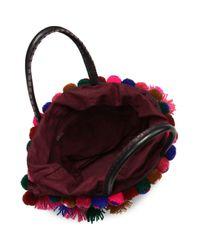 Figue Multicolor Frida Mini Tuk Tuk Embellished Top Handle Bag