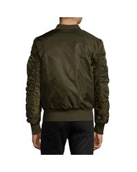 American Stitch Black Patch Bomber Jacket for men