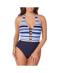 Miraclesuit Blue Mykonos Gaea 1-piece Swimsuit