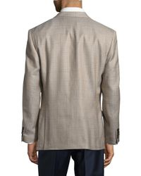 Lauren by Ralph Lauren Brown Silk-blend Window-pane Jacket for men