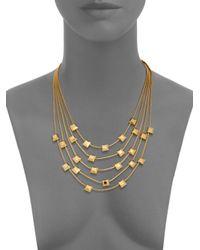Diane von Furstenberg - Metallic Cubism Multi-strand Necklace - Lyst