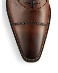 Mezlan - Brown Nantes Leather Oxford Shoes for Men - Lyst