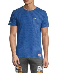 Superdry Blue Logo Print Cotton Tee for men