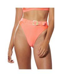 Dolce Vita Multicolor High-waist Buckle Bikini Bottom