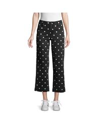 PAIGE Clean Front Nellie Culotte - Black/cream Polka Dot