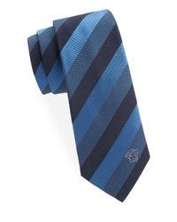 Versace Blue Stripe Silk Tie for men