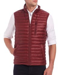 Saks Fifth Avenue Red Thermoluxe Quilted Vest for men