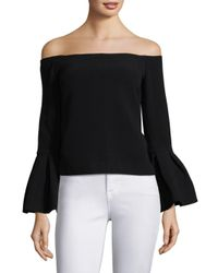 Alexis Black Tess Bell Sleeve Blouse
