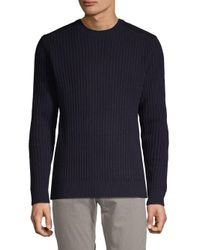 AG Jeans Blue Wool Crewneck Sweater for men