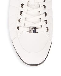 Versace White Nappa Leather Sneakers for men