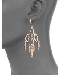 Alexis Bittar - Metallic Elements Phoenix Labradorite & Crystal Dangle Shard Two-tier Chandelier Earrings - Lyst