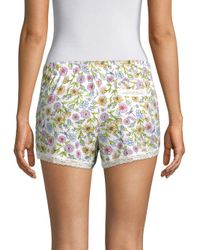 Jane And Bleecker - Pink Floral Sleep Shorts - Lyst