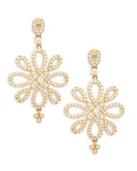 Freida Rothman - Metallic Crystal Pave Sterling Silver Drop Earrings - Lyst