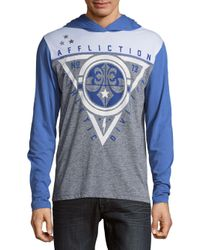 Affliction - Gray Athletic Division Hoodie for Men - Lyst